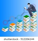 power of knowledge business... | Shutterstock .eps vector #512206144