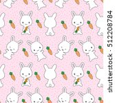 cute bunnies with carrots.... | Shutterstock .eps vector #512208784
