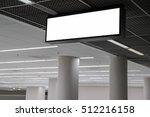 blank billboard hanging in... | Shutterstock . vector #512216158