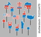 foam sign president election of ... | Shutterstock .eps vector #512216470