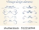 vintage border set. vintage...   Shutterstock .eps vector #512216944