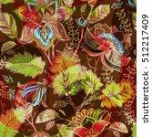 vintage flowers seamless...   Shutterstock .eps vector #512217409