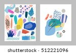 trendy creative collages with... | Shutterstock .eps vector #512221096
