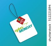 isolated cyber monday label on... | Shutterstock .eps vector #512221894