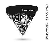 geometric ice cream in trendy...   Shutterstock .eps vector #512224960