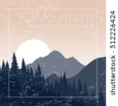 mountains landscape. textured... | Shutterstock .eps vector #512226424