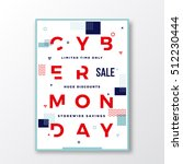 cyber monday modern typography... | Shutterstock .eps vector #512230444