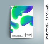 fluid colors cover design.... | Shutterstock .eps vector #512230636