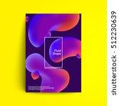 fluid colors cover design.... | Shutterstock .eps vector #512230639