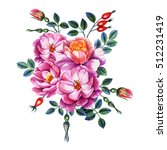 watercolor hand painting roses. ... | Shutterstock . vector #512231419