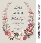 wedding invitation. beautiful... | Shutterstock .eps vector #512234959