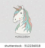 vector card with cute magic... | Shutterstock .eps vector #512236018