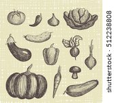 hand drawn vegetables set | Shutterstock .eps vector #512238808