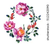 watercolor hand painting roses... | Shutterstock . vector #512242090