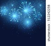 vector holiday blue fireworks.... | Shutterstock .eps vector #512242258