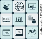 set of advertising icons on... | Shutterstock .eps vector #512244010