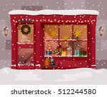 christmas gift or presents shop ... | Shutterstock .eps vector #512244580