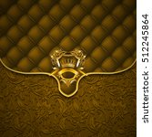 elegant golden shield with gold ... | Shutterstock .eps vector #512245864