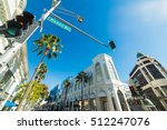 blue sky over rodeo drive ... | Shutterstock . vector #512247076