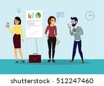 vector business cartoon... | Shutterstock .eps vector #512247460