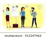 vector business cartoon...   Shutterstock .eps vector #512247463