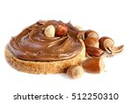 bread with sweet chocolate... | Shutterstock . vector #512250310