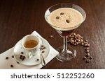 espresso martini cocktail | Shutterstock . vector #512252260