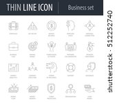 icons set of business number... | Shutterstock .eps vector #512252740