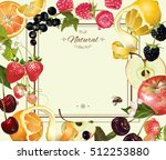 vector vintage fruit and berry... | Shutterstock .eps vector #512253880