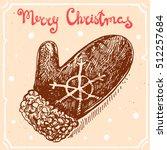 vector illustration of knitted...   Shutterstock .eps vector #512257684