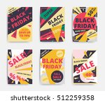 flat design black friday sale... | Shutterstock .eps vector #512259358
