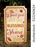 a thanksgiving sign decoration... | Shutterstock . vector #512260624