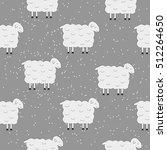 winter cute seamless christmas... | Shutterstock .eps vector #512264650