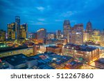 aerial view of downtown detroit ... | Shutterstock . vector #512267860
