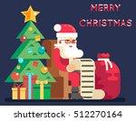 christmas santa claus tree bell ... | Shutterstock .eps vector #512270164