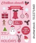 christmas time vector elements | Shutterstock .eps vector #512271460