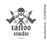 professional tattoo studio.... | Shutterstock .eps vector #512285566