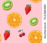 colorful hand drawn seamless... | Shutterstock . vector #512286484
