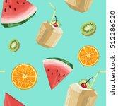 colorful fresh tropial hand... | Shutterstock . vector #512286520