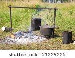 cooking on an open fire | Shutterstock . vector #51229225