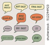 sale speech bubbles. set of... | Shutterstock .eps vector #512294923