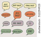 sale speech bubbles. set of... | Shutterstock .eps vector #512294923