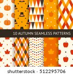 ten retro different seamless... | Shutterstock .eps vector #512295706