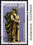 Small photo of CROATIA ZAGREB, 2 OCTOBER 2016: a stamp printed in Poland shows Pulaski Monument, Buffalo, General Casimir Pulaski, Polish Nobleman who Served in American Revolutionary War, circa 1979