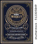 whiskey label with old frames | Shutterstock .eps vector #512305849