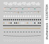 set of christmas borders and... | Shutterstock .eps vector #512307034