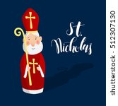 cute greeting card with saint... | Shutterstock .eps vector #512307130