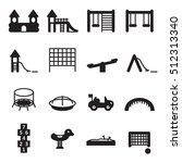 children playground icon set....