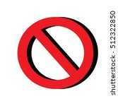 stop icon  | Shutterstock . vector #512322850