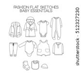 fashion flat sketches  baby... | Shutterstock . vector #512327230